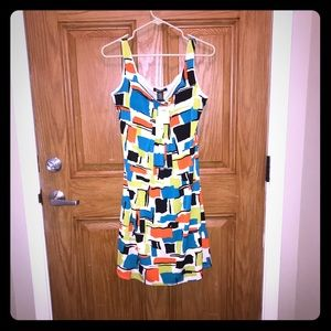 NWT Glamour dress- Great color blocks & flowy fit